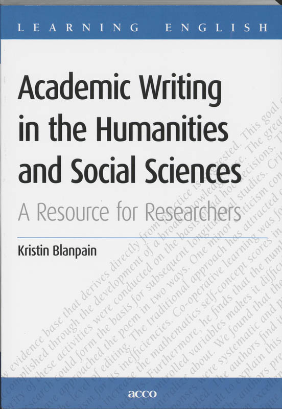 Academic Writing in the Humanities and Social Sciences