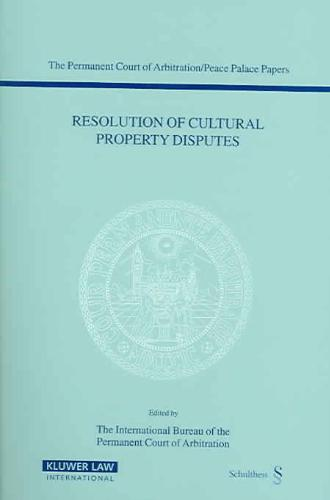 Resolution Of Cultural Property Disputes