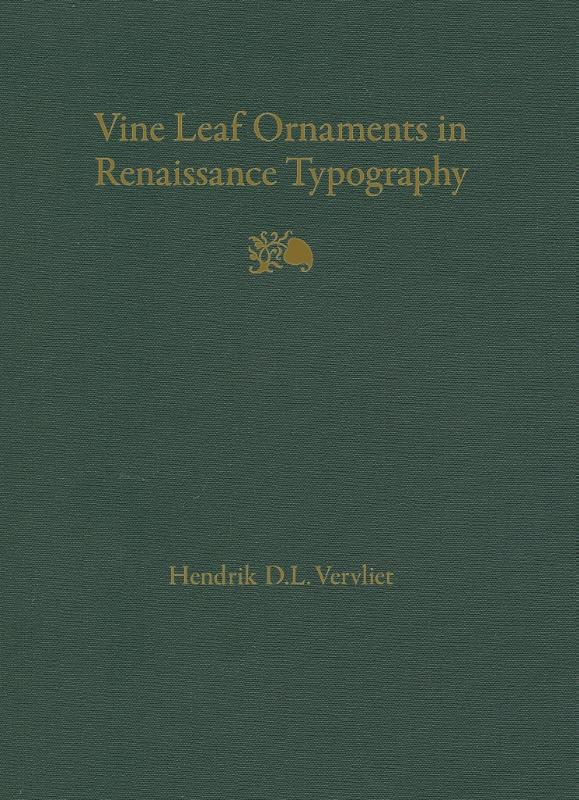 Vine leaf ornaments in Renaissance typography