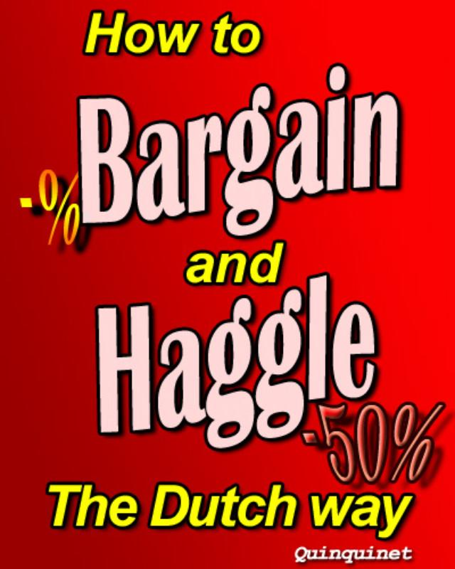 How to Bargain and Haggle