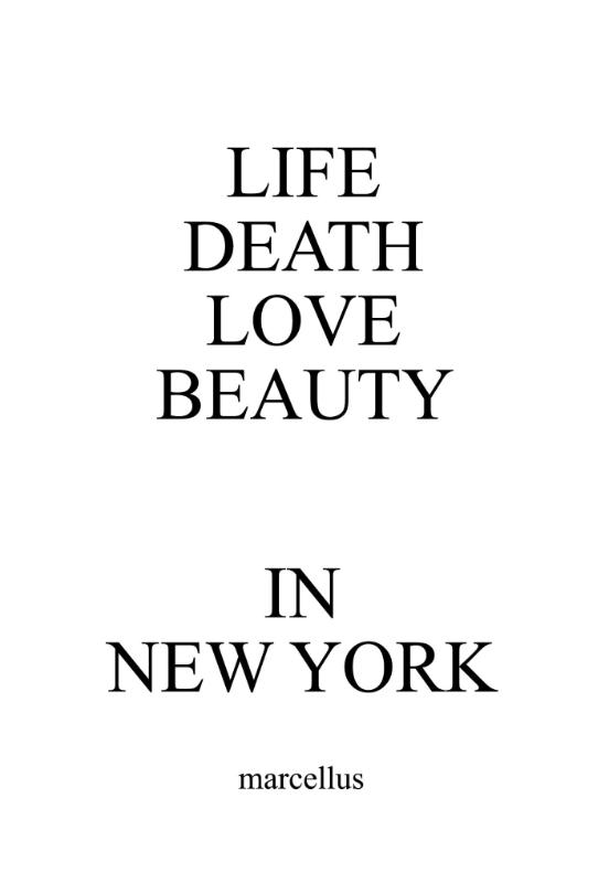 LIFE DEATH LOVE BEAUTY IN NEW YORK