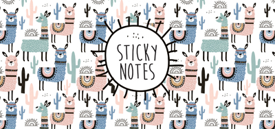 Sticky notes box Alpaca