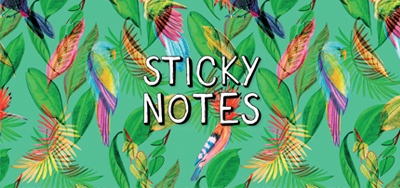 Sticky notes box Tropical