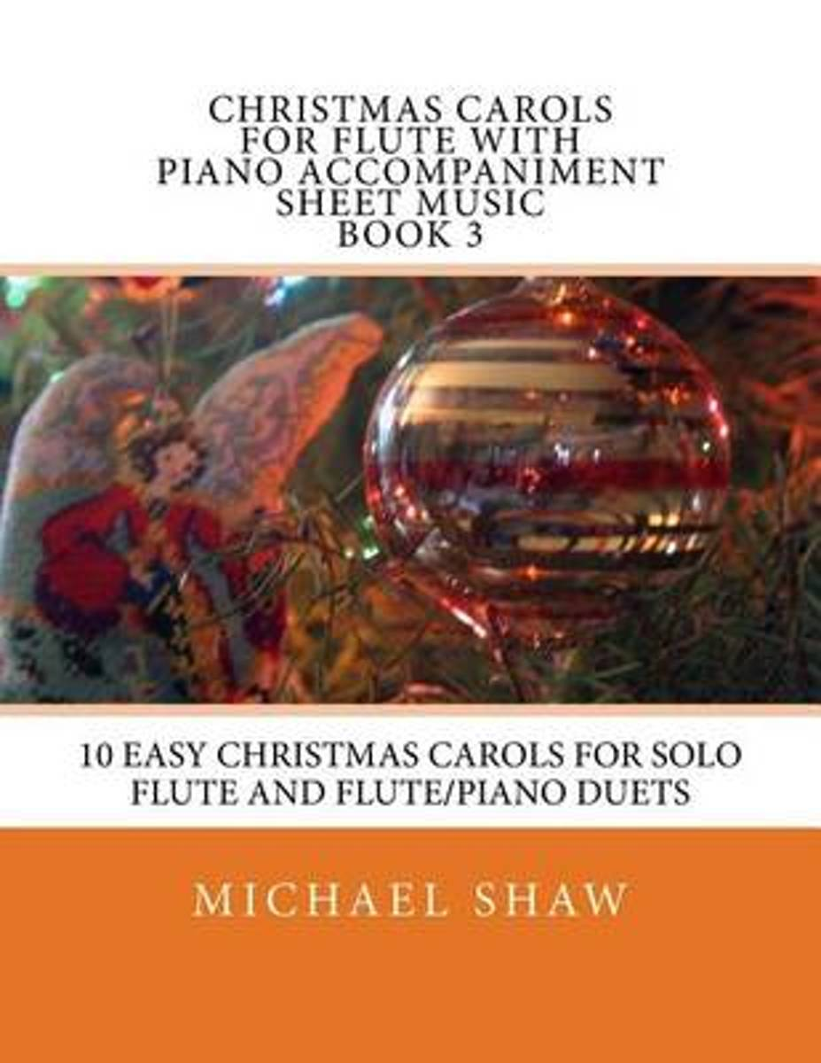 Christmas Carols for Flute with Piano Accompaniment Sheet Music Book 3