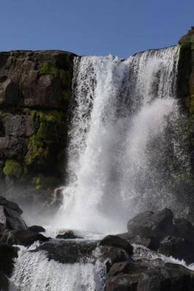 Waterfall in Iceland Journal