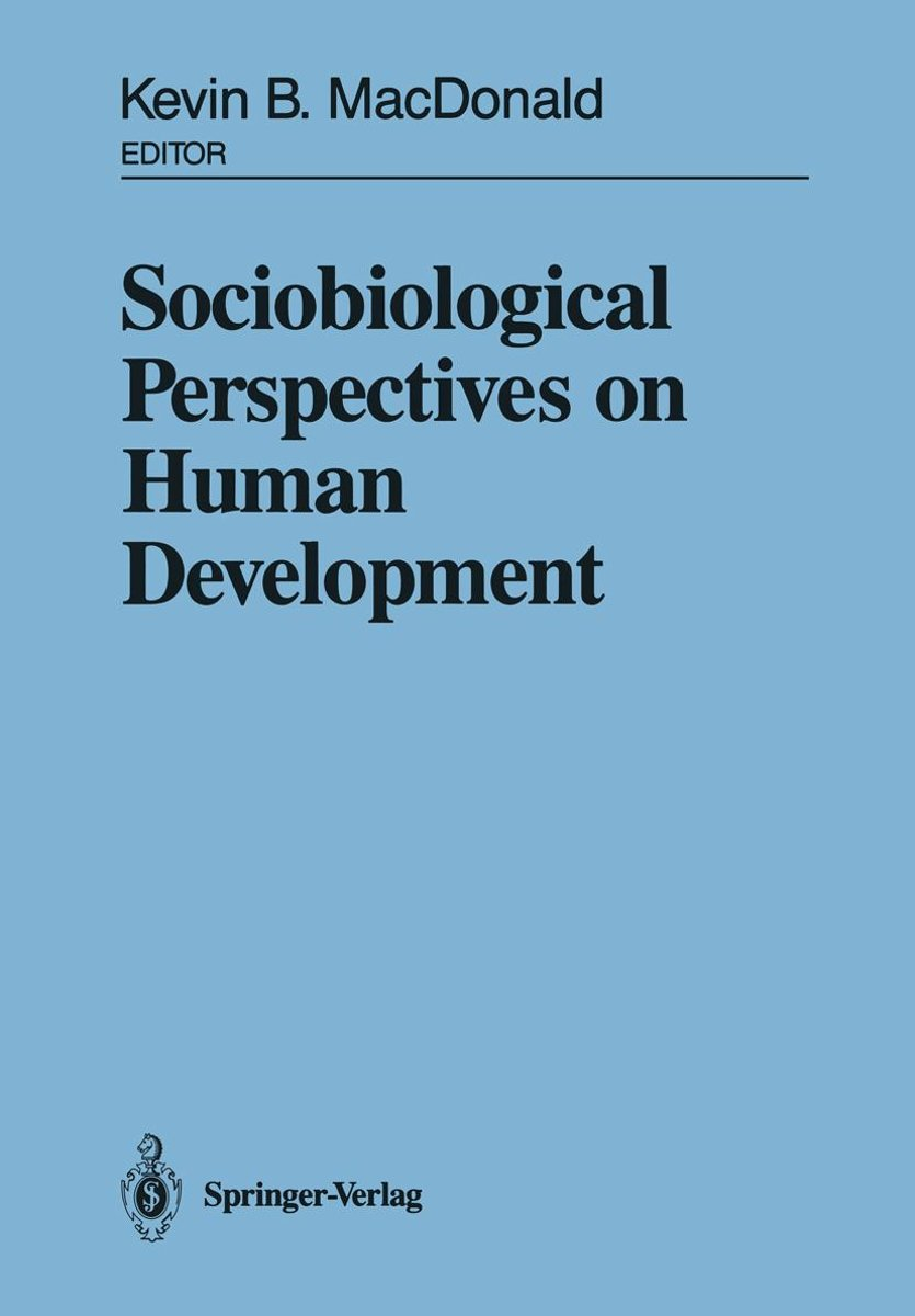 Sociobiological Perspectives on Human Development