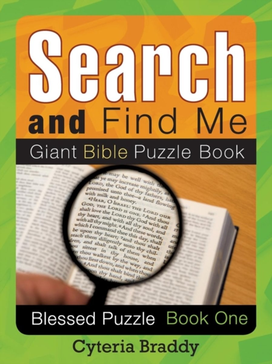 Search and Find Me Giant Bible Puzzle Book