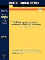 Outlines & Highlights For Operations Management By Heizer, Jay / Render, Barry, Isbn