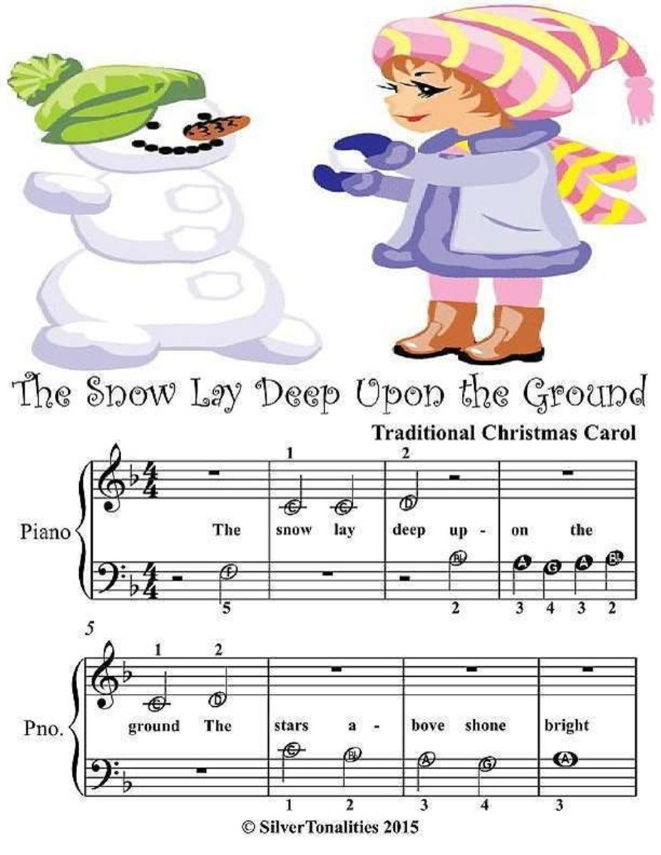 Snow Lay Deep Upon the Ground - Beginner Tots Piano Sheet Music