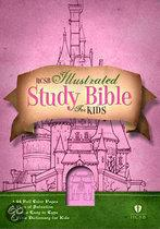HCSB Illustrated Study Bible for Kids - Leather Touch Girl