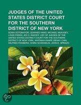 Judges Of The United States District Court For The Southern District Of New York: Sonia Sotomayor, Learned Hand, Michael Mukasey, Louis Freeh