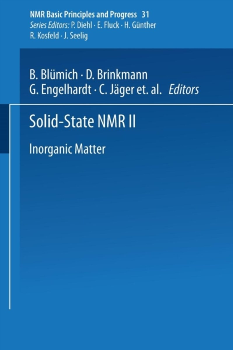Solid-State NMR II