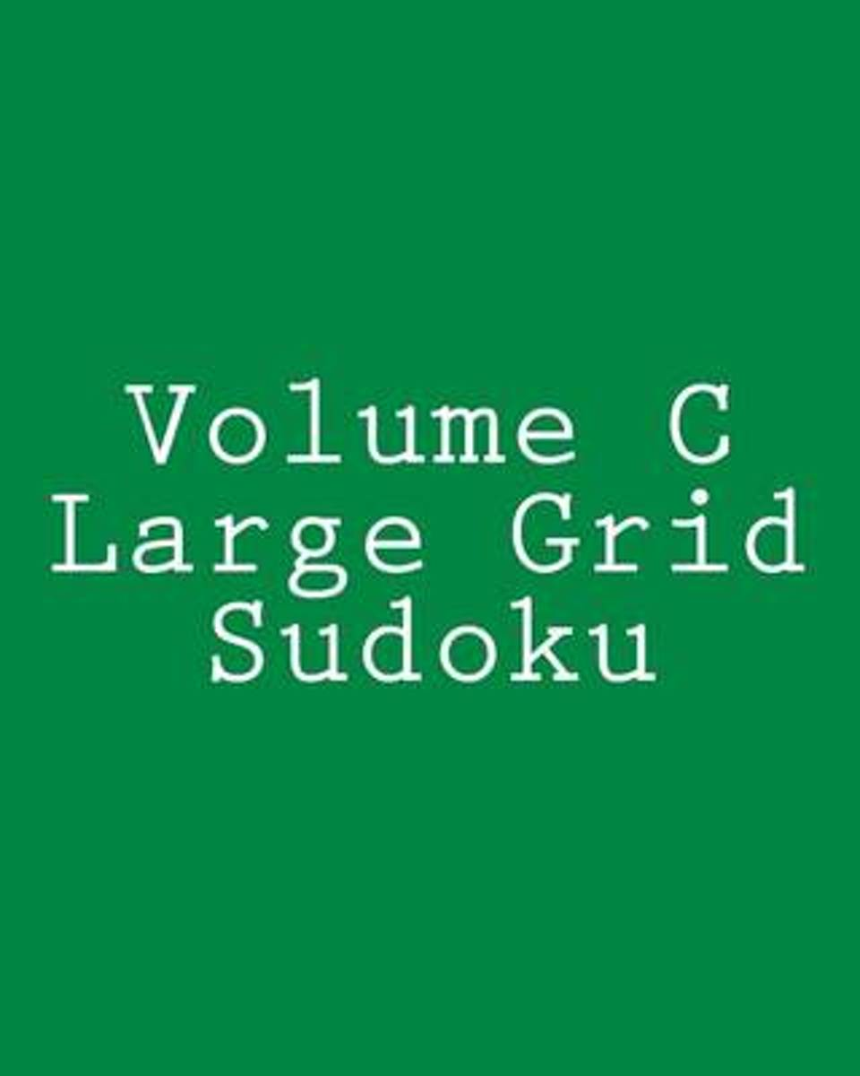 Volume C Large Grid Sudoku
