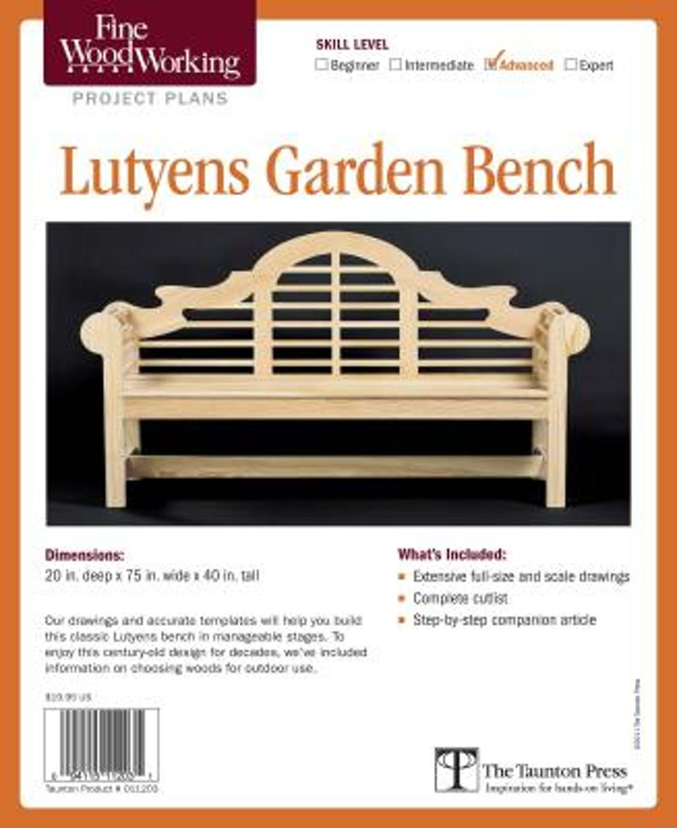Fine Woodworking's Lutyens Garden Bench