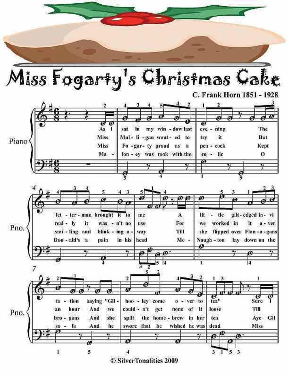 Miss Fogarty's Christmas Cake - Easy Piano Sheet Music Junior Edition
