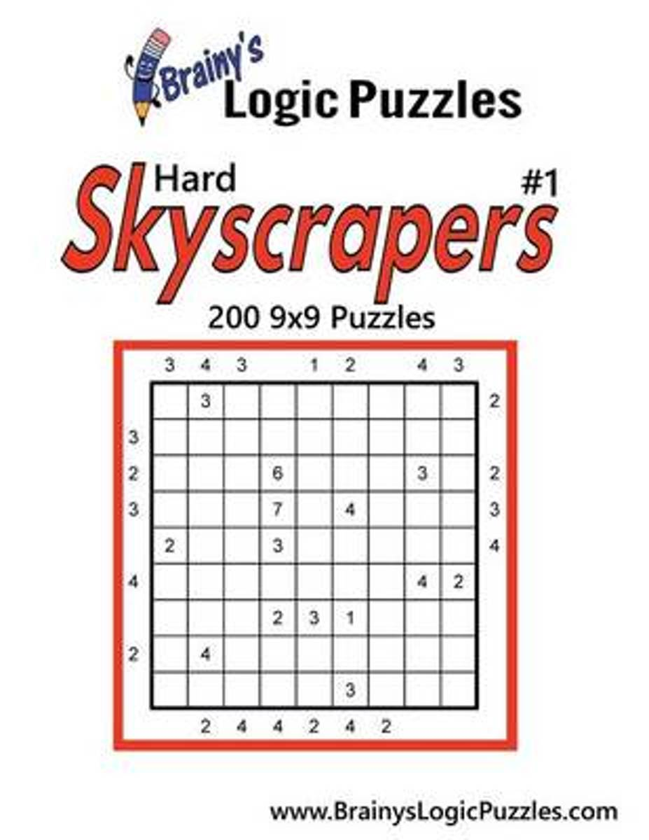 Brainy's Logic Puzzles Hard Skyscrapers #1 200 9x9 Puzzles