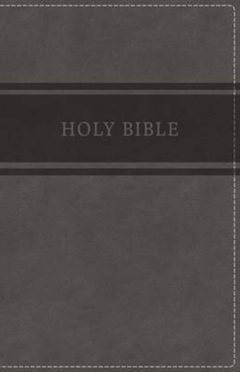 KJV, Deluxe Gift Bible, Imitation Leather, Gray, Red Letter Edition, Comfort Print