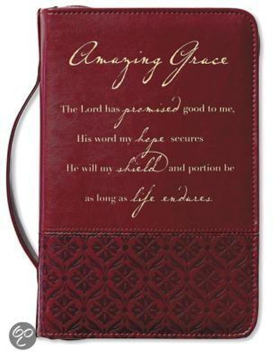 Amazing Grace Large Italian Duo-Tone Rich Red Cover
