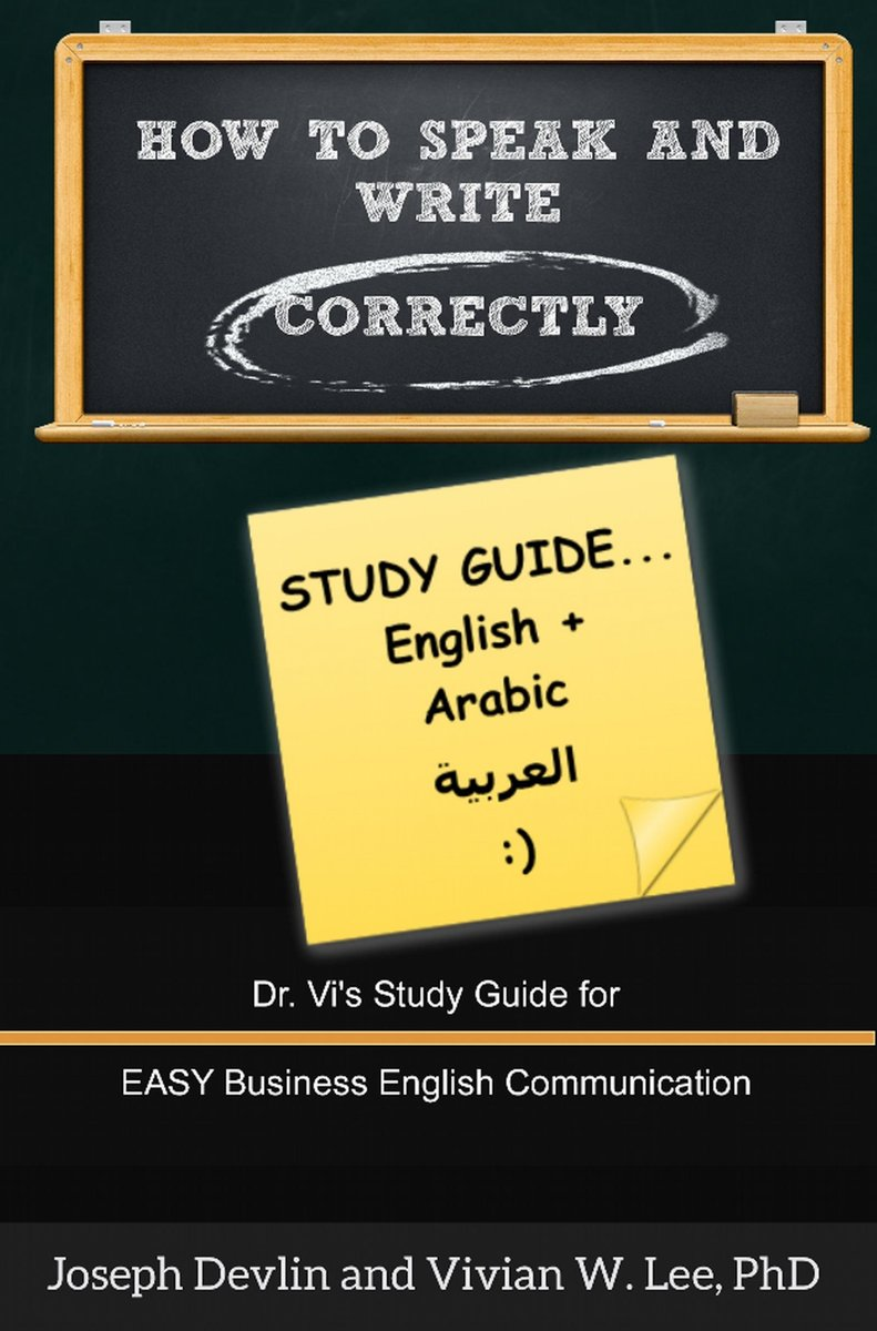 How to Speak and Write Correctly: Study Guide (English + Arabic)