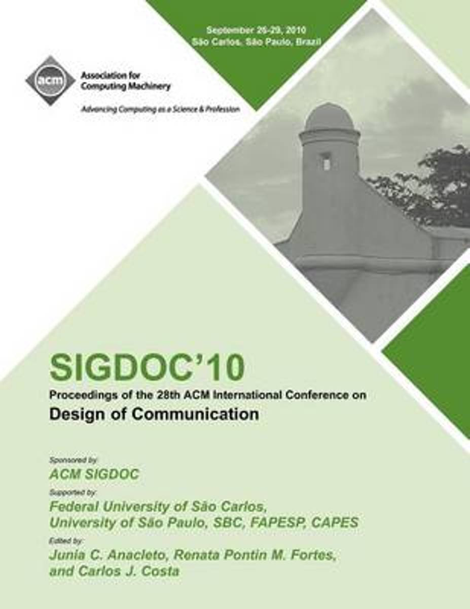 Sigdoc 10 Proceedings of the 28th ACM International Conference on Design of Communication