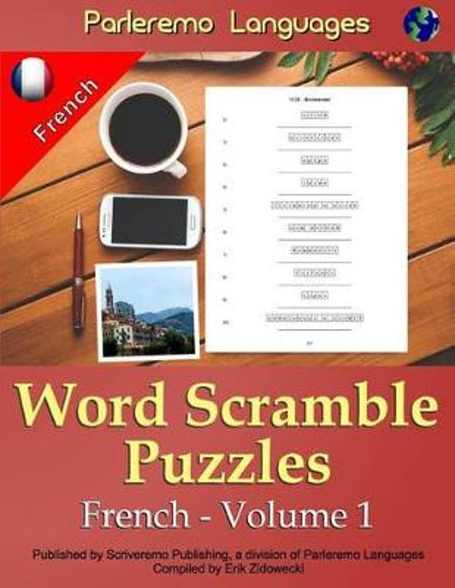 Parleremo Languages Word Scramble Puzzles French - Volume 1
