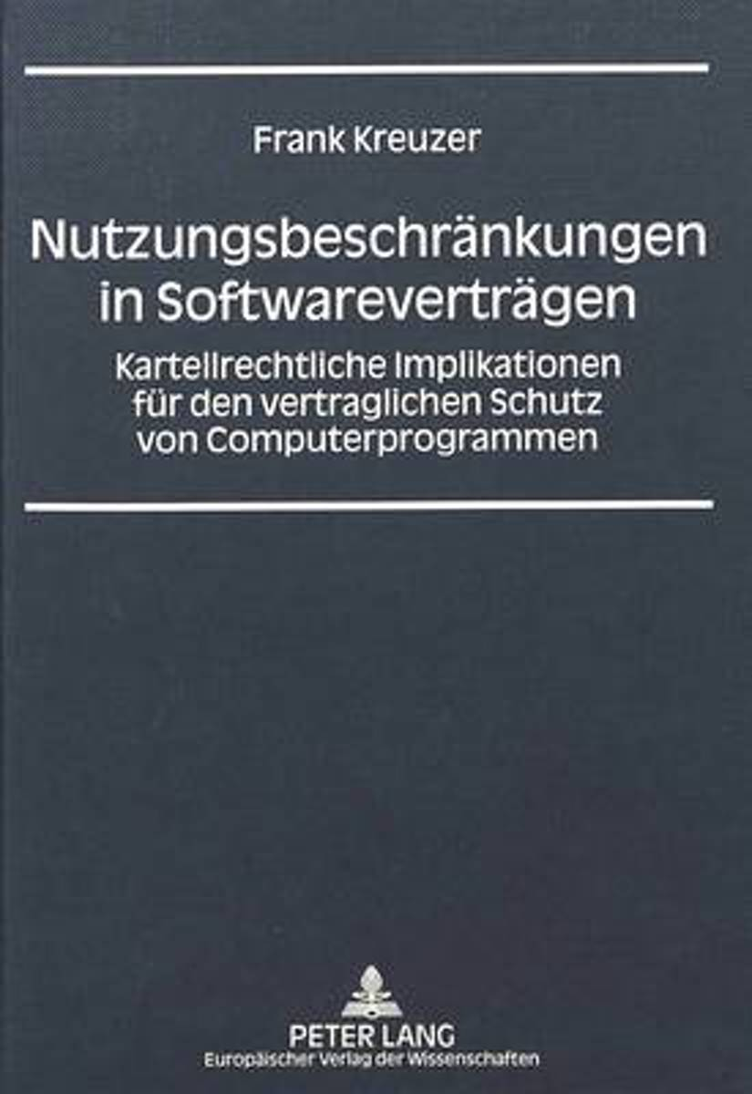 Nutzungsbeschraenkungen in Softwarevertraegen