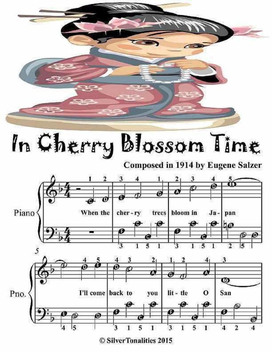 In Cherry Blossom Time - Easiest Piano Sheet Music Junior Edition