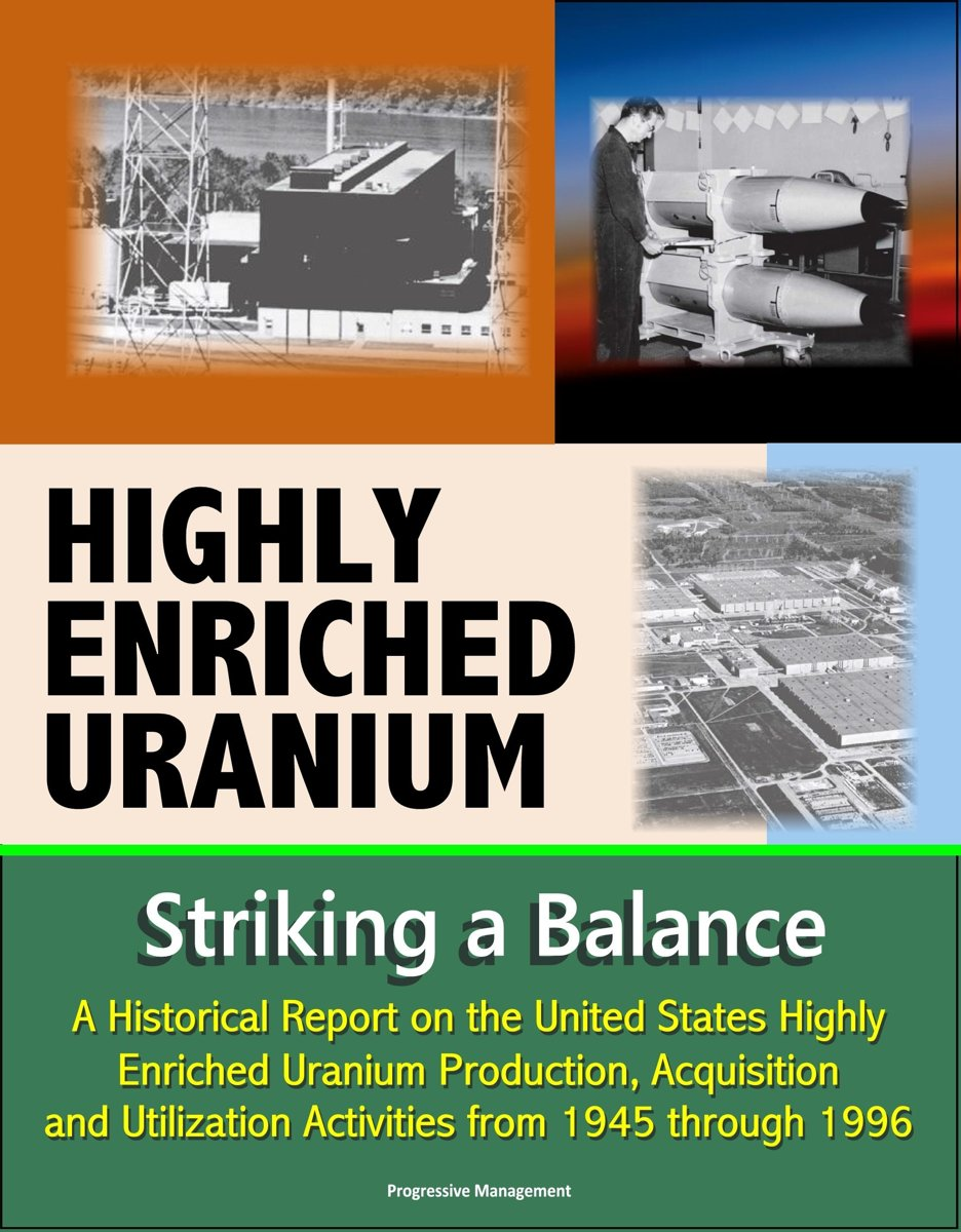Highly Enriched Uranium: Striking a Balance - A Historical Report on the United States Highly Enriched Uranium Production, Acquisition, and Utilization Activities from 1945 through 1996
