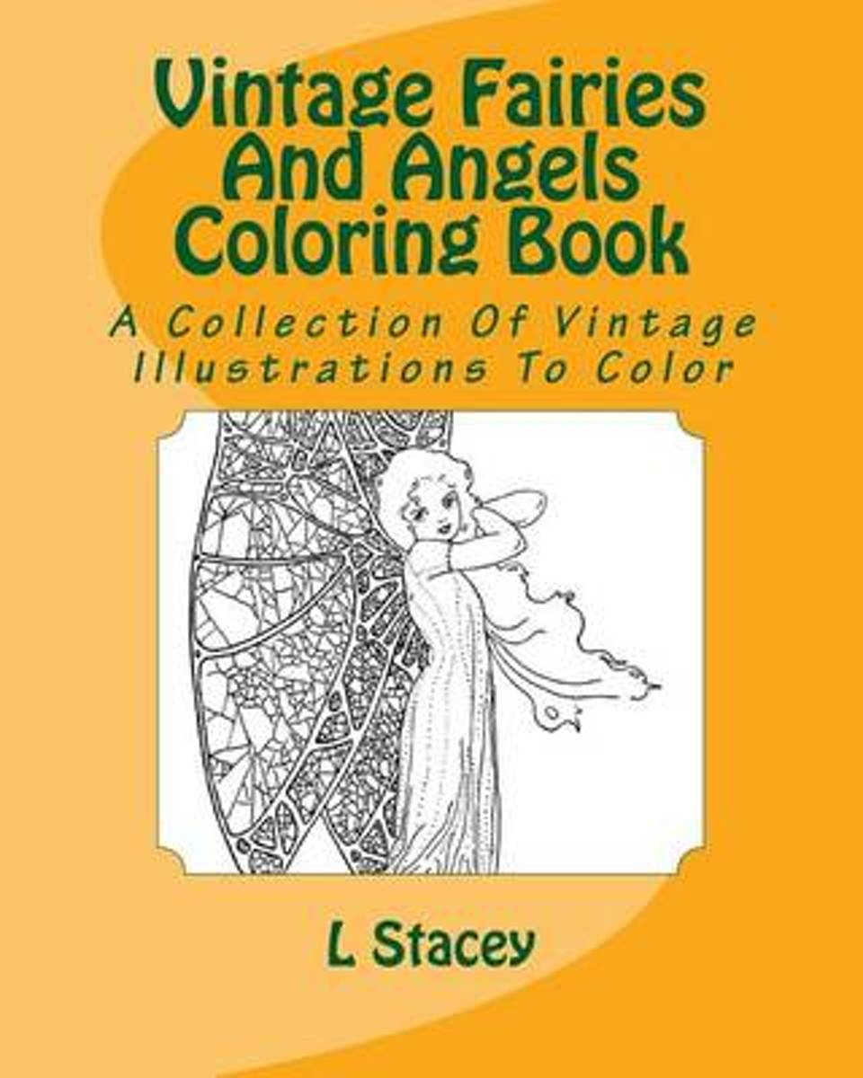 Vintage Fairies and Angels Coloring Book