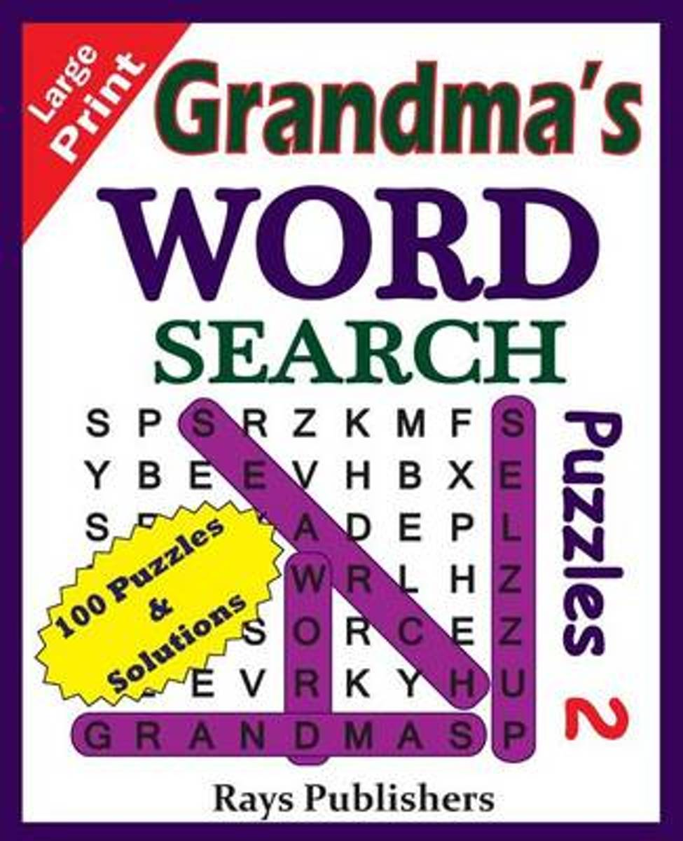 Grandma's Word Search Puzzles 2