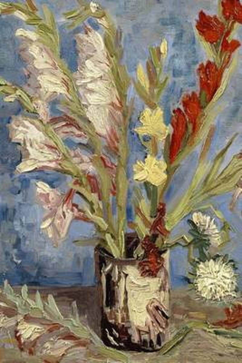 Vase with Chinese Asters and Gladioli, Vincent Van Gogh