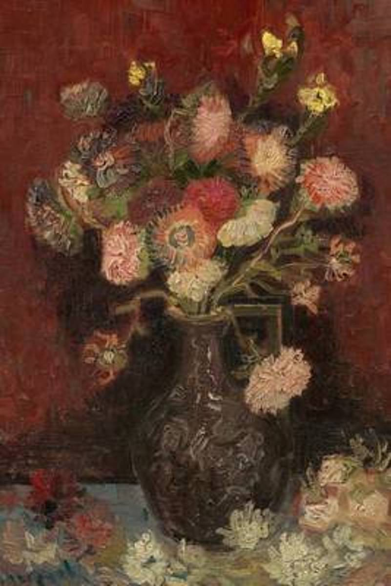 Vase with Gladioli and Chinese Asters, Vincent Van Gogh