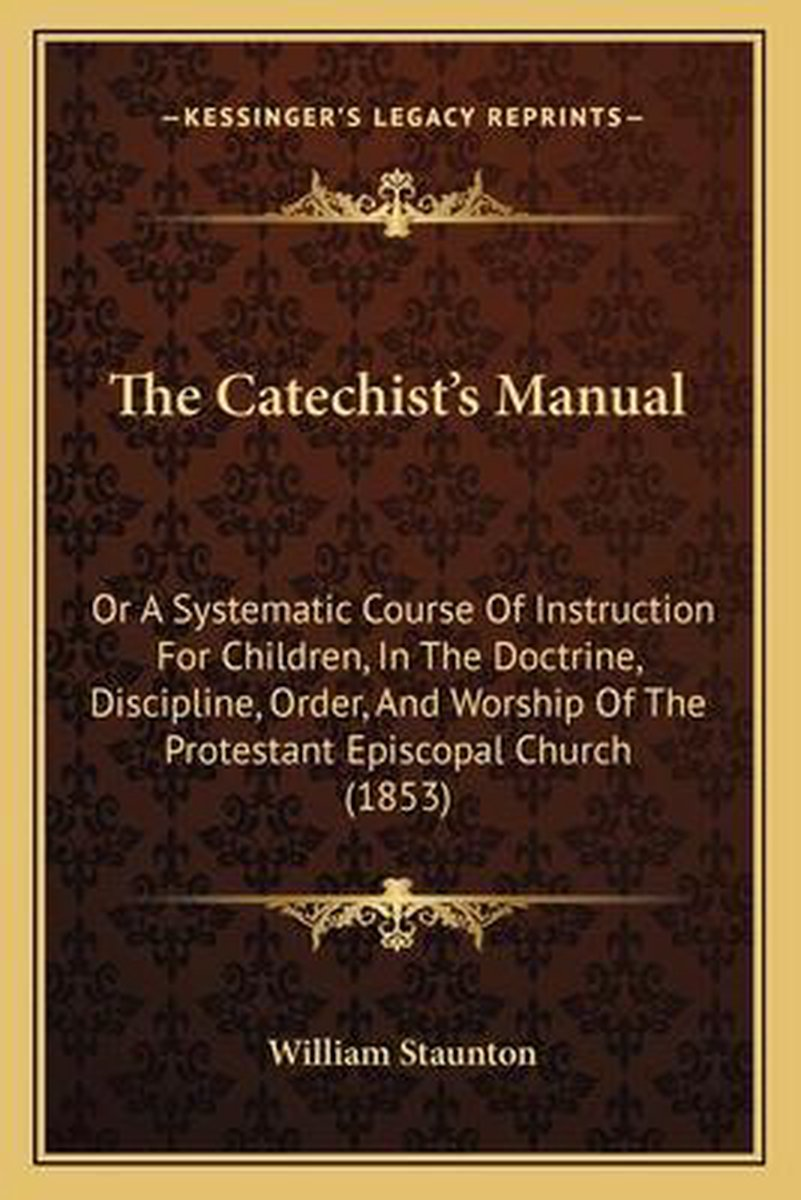 The Catechist's Manual