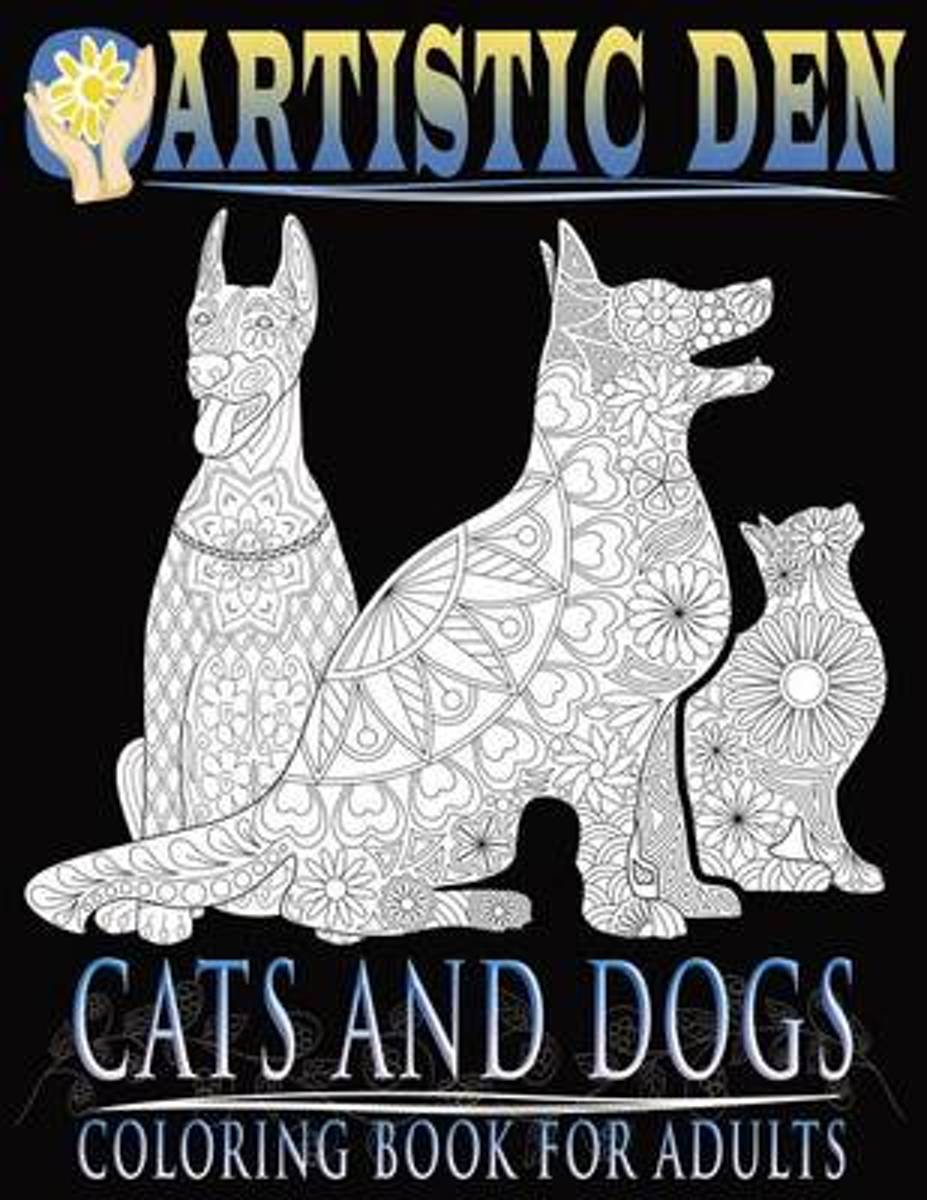 Cats and Dogs Coloring Book for Adults