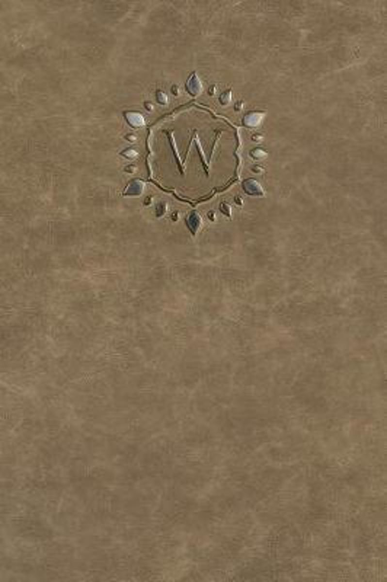 Monogram W Any Day Planner Journal