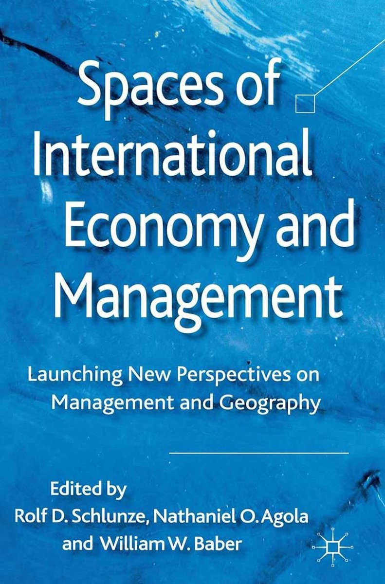 Spaces of International Economy and Management