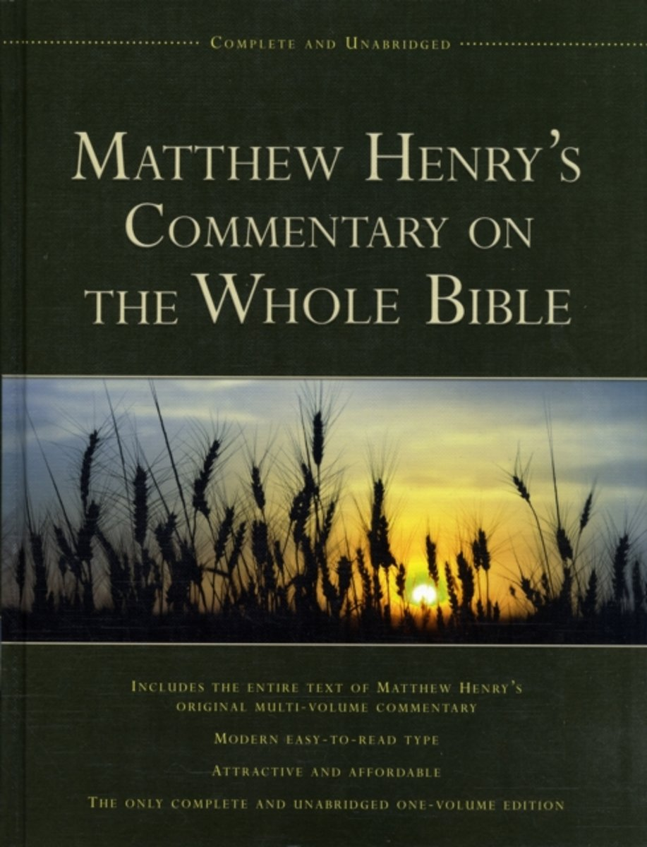 Matthew henrys commentary on the bible