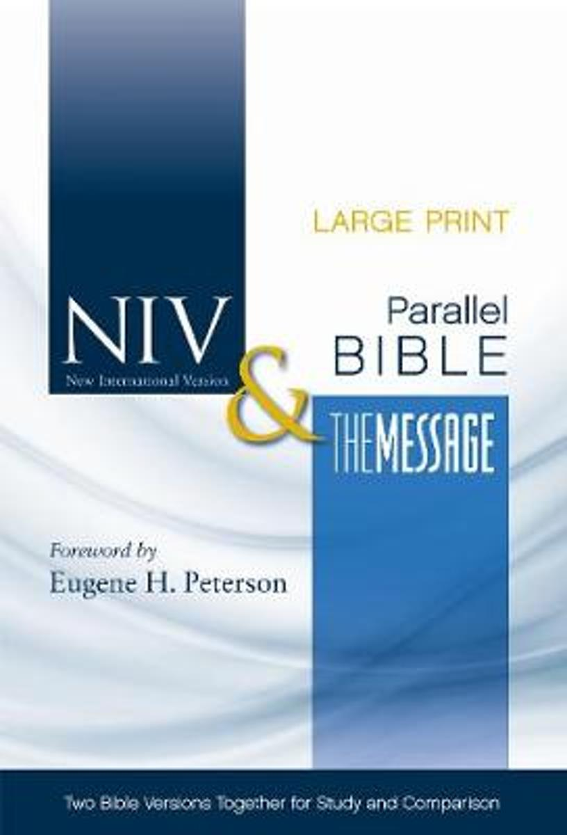 NIV, The Message, Parallel Bible, Large Print, Bonded Leather, Black