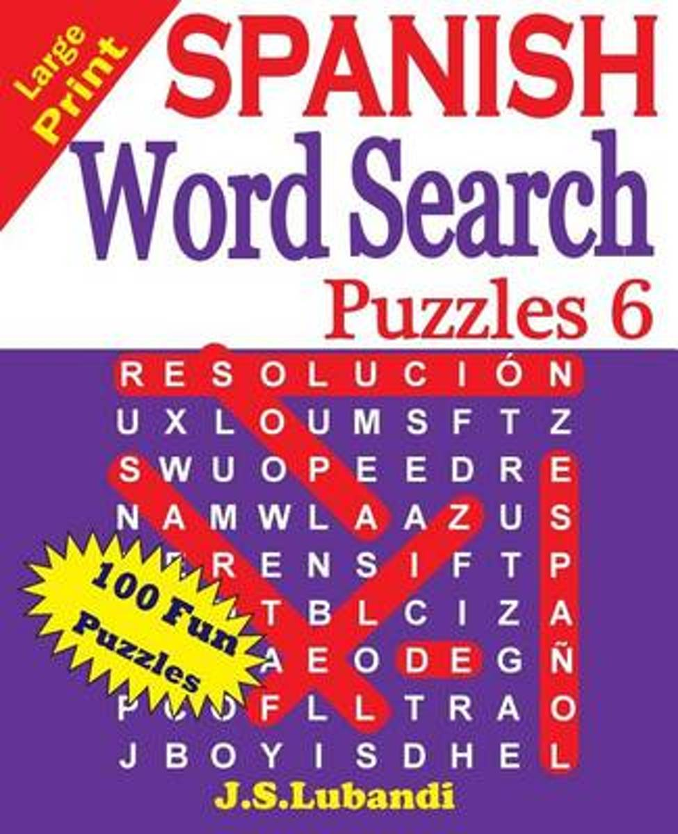 Large Print Spanish Word Search Puzzles 6