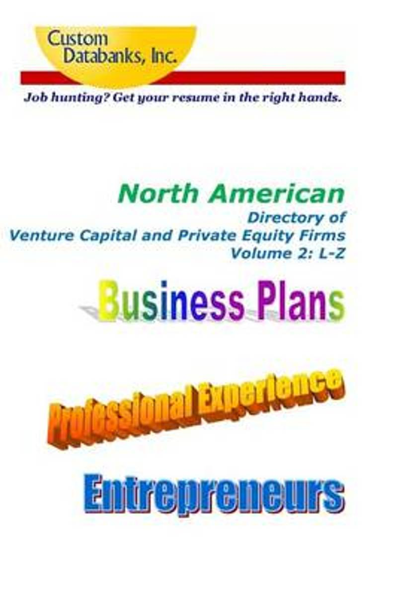 North American Directory of Venture Capital and Private Equity Firms Volume 2
