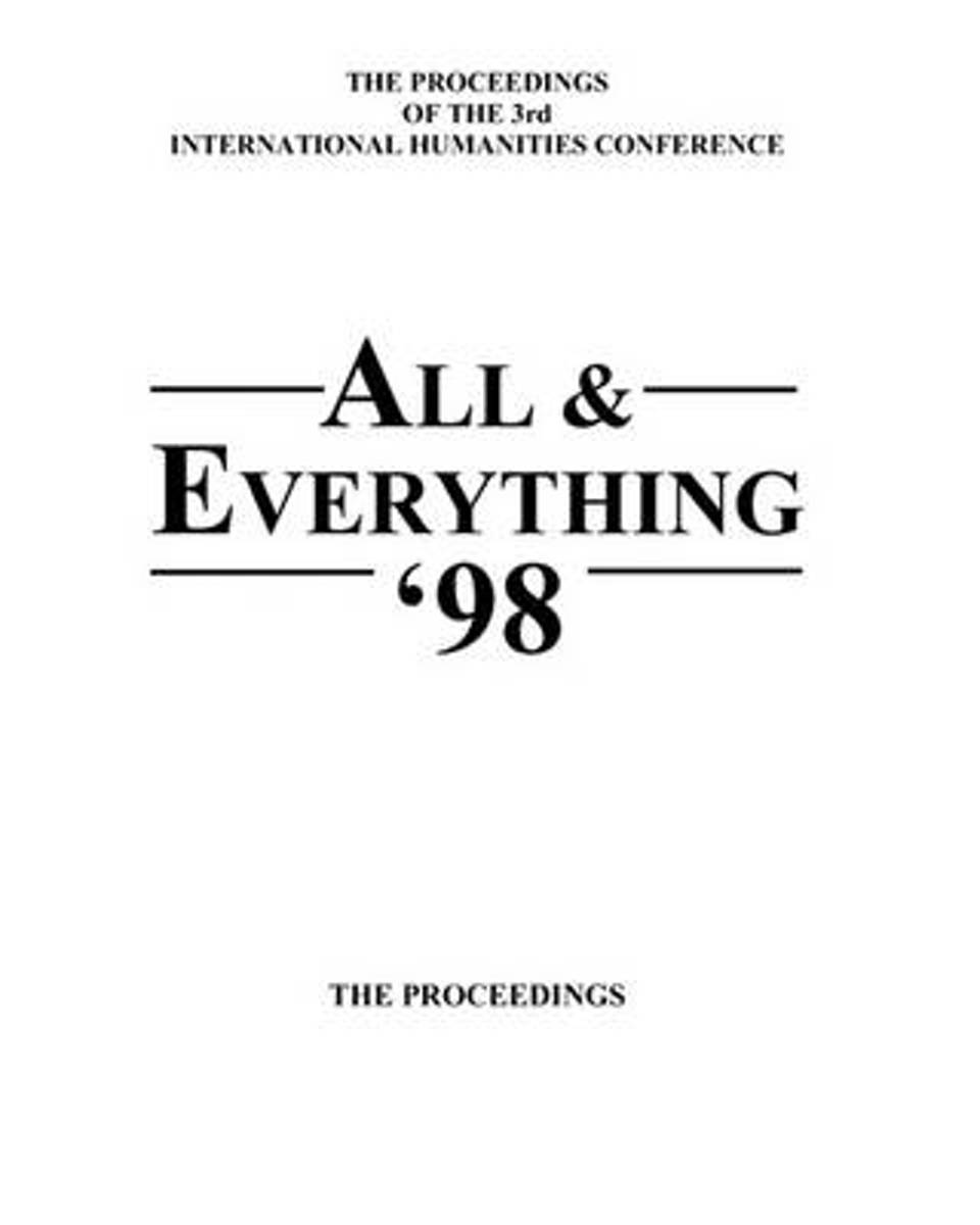 The Proceedings of the 3rd International Humanities Conference