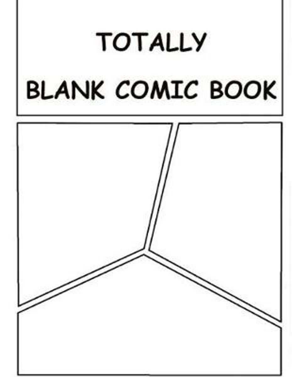 Totally Blank Comic Book