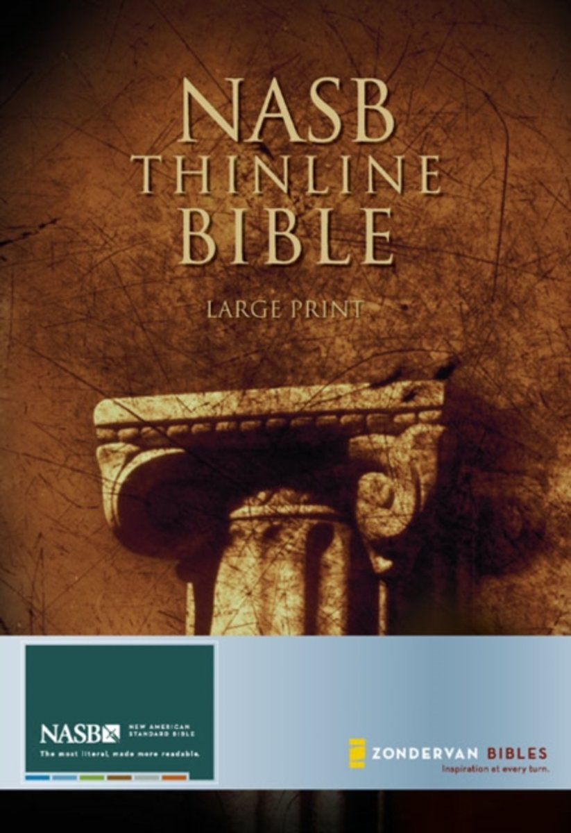 NASB, Thinline Bible, Large Print, Hardcover, Red Letter Edition