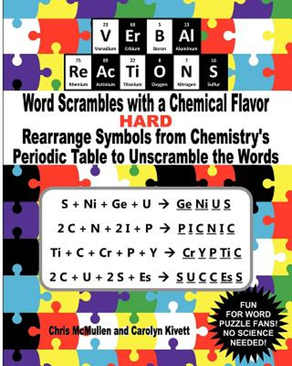 Verbal Reactions - Word Scrambles with a Chemical Flavor (Hard)