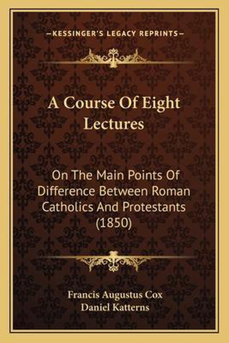 A Course of Eight Lectures
