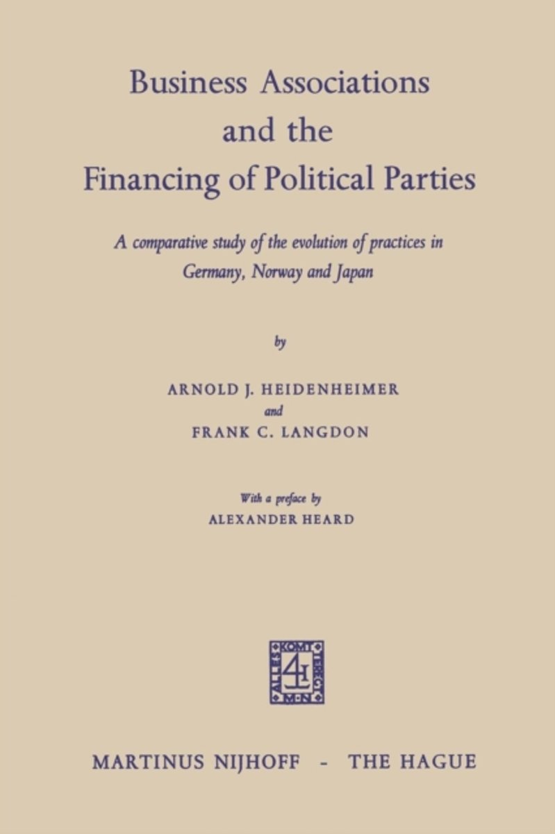 Business Associations and the Financing of Political Parties