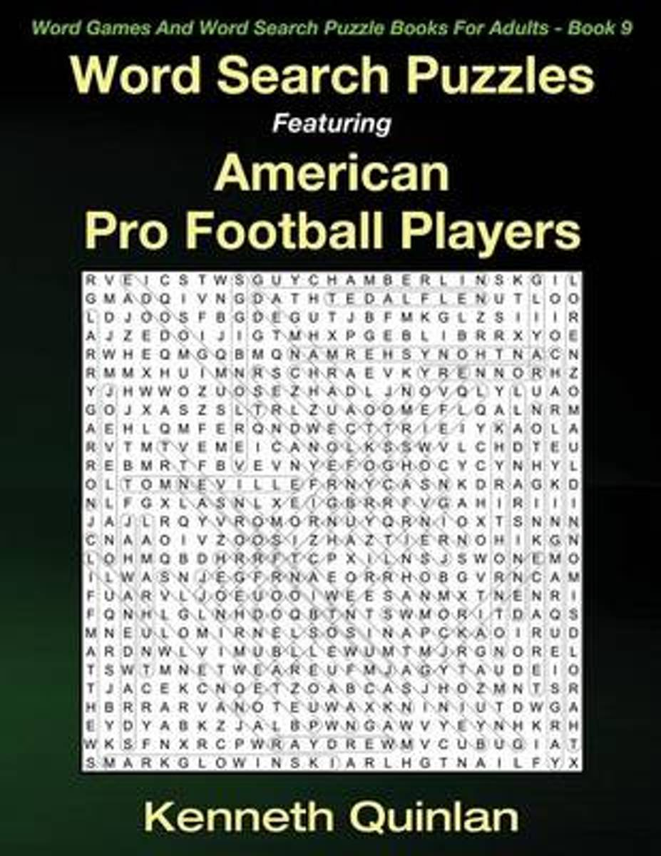 Word Search Puzzles Featuring American Pro Football Players
