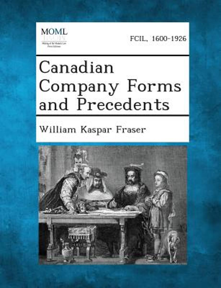 Canadian Company Forms and Precedents