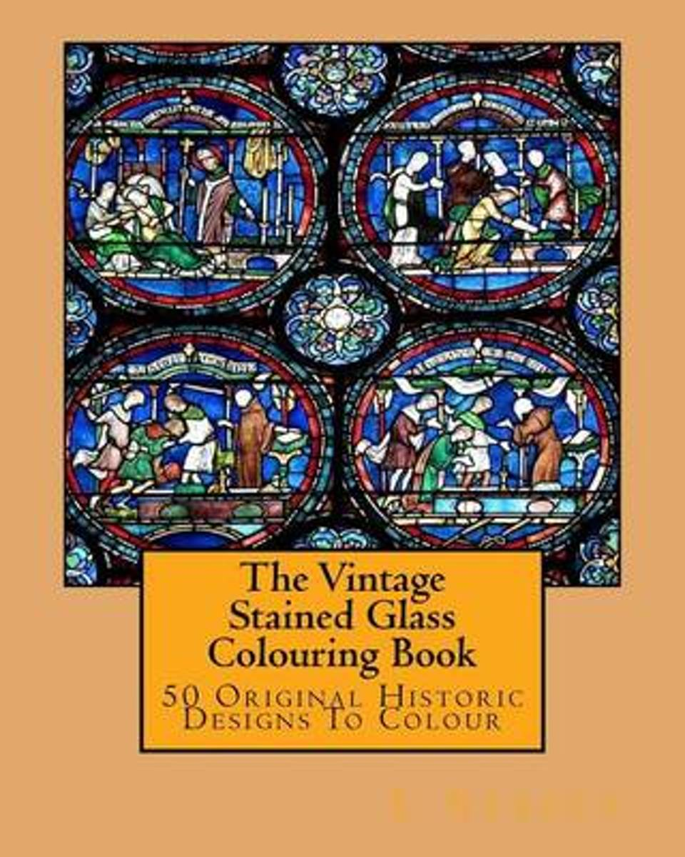 The Vintage Stained Glass Colouring Book