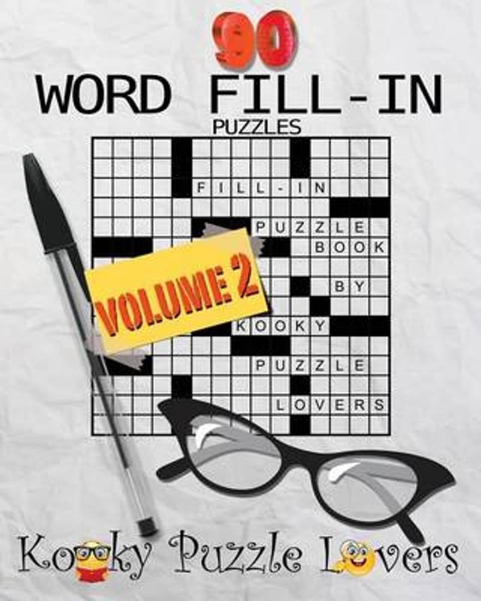 Word Fill-In Puzzle Book, 90 Puzzles